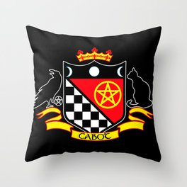 Cabot Crest Color/Black Throw Pillow
