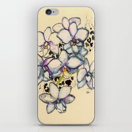 White Orchids iPhone Skin