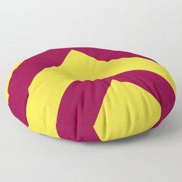 Sunnydale High Chevron (Maroon & Gold - #8A0034 x #FFDC32) Floor Pillow