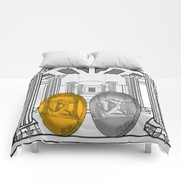 Necropolis Coins Gold and Silver 1 Comforters