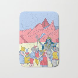 Kali dance Bath Mat