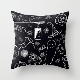 Spooky Lil Friends Throw Pillow