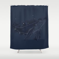 Spacial Whale Shower Curtain