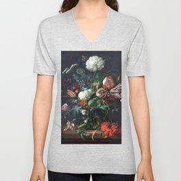 Jan Davidsz de Heem Vase of Flowers Unisex V-Neck