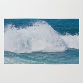 Hookipa Splash Waves Beach Break Shore Break Pacific Ocean Maui Hawaii Rug