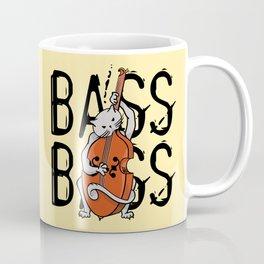 Cat Playing A Double Bass Coffee Mug