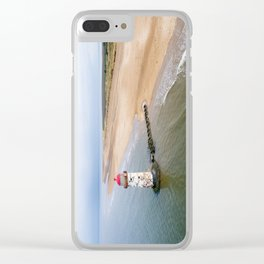 Talacre aerial 2 Clear iPhone Case