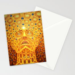 Golden Psychedelic Head Stationery Cards