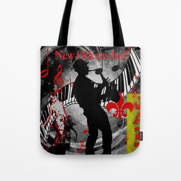 New Orleans Jazz Saxophone And Piano Music Tote Bag
