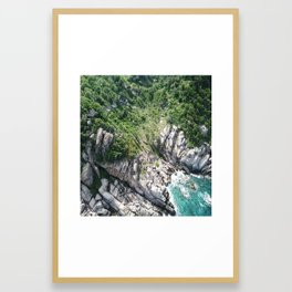 Koh Tao Bungalow Framed Art Print