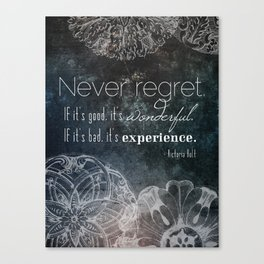 Never Regret Canvas Print