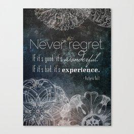 Never Regret Canvas Print