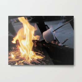 Marshmallow toasting Metal Print