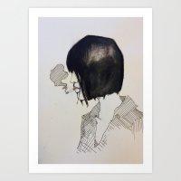 Cigarette Watercolor Art Print