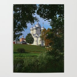 Landscape with Saint Sophia Cathedral in Vologda Poster