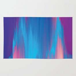 Pastel Glitch - Abstract Art Rug