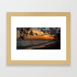Sunset on Paradise Framed Art Print