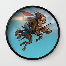 Rocket Dog Wall Clock