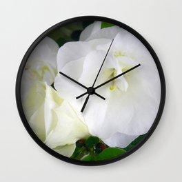 White Azalea Wall Clock