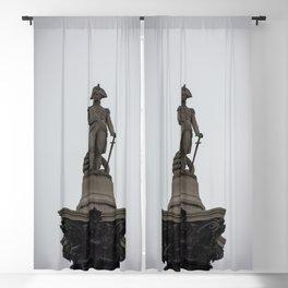 Admiral Nelson Statue atop Nelson's Column Trafalgar Square London England Blackout Curtain