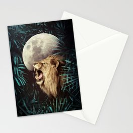 Lion in the Jungle Stationery Cards