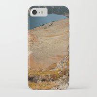 hiking iPhone & iPod Cases featuring Mountain hiking by Mariana Lisina