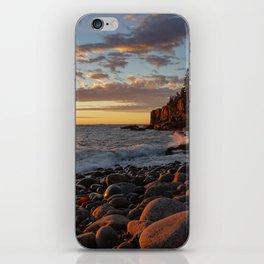 Sunrise at Otter Cliff III iPhone Skin
