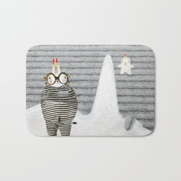 Time between rabbits, lies and truth Bath Mat