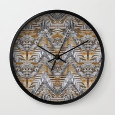 Wood Quilt 2 Wall Clock