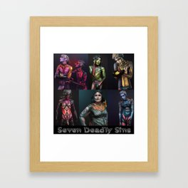 Seven Deadly Sins Framed Art Print