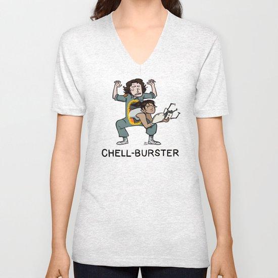 Chell Burster Unisex V-Neck