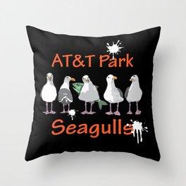 AT&T Seagulls II Throw Pillow