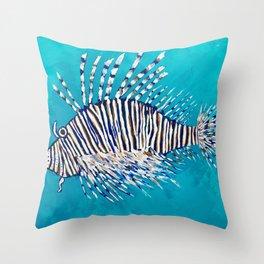 Lion Fish 3, a pretty predator & invasive species Throw Pillow