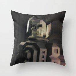 Necronaut low-polygon 3D artwork Throw Pillow
