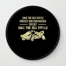 Sea Turtle Turtle Wall Clock