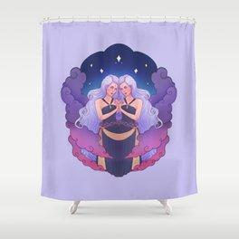 Gemini Zodiac Sign - Lilac Shower Curtain