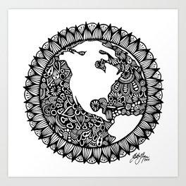 Zentangle - Zen World  Art Print