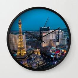 Vegas Strip - Paris Wall Clock