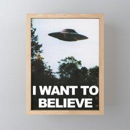 I want to believe Framed Mini Art Print