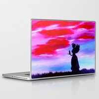 astrology Laptop & iPad Skins featuring The Astrology  sign VIRGO by Krista May