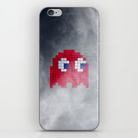 pac man iPhone & iPod Skins featuring Pac-Man Red Ghost by Psocy Shop