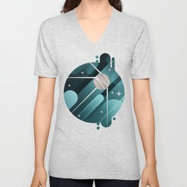 Watching the Moon Unisex V-Neck