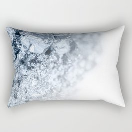 Auriferous Pyrite gray blue stone crystals on white background Rectangular Pillow