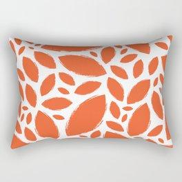 Painted Tree Leaves V1 - Orange Rectangular Pillow
