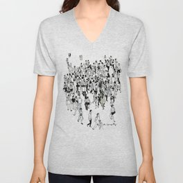 Shibuya Street Crossing Crowd Unisex V-Neck
