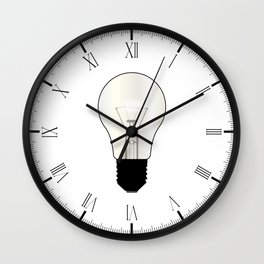 Isolated Light Bulb Wall Clock