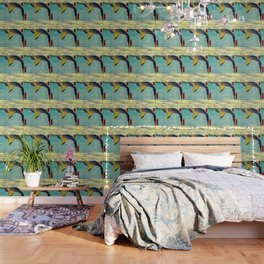 Hiroshige, Hawk Flight Over Field Wallpaper
