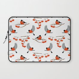 Christmas bullfinches and branch of rowan Laptop Sleeve