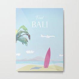 Visit Bali Metal Print