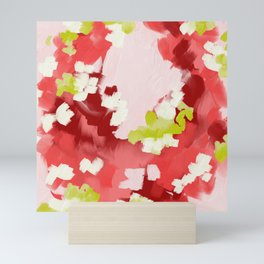 Abstract painting - spring vibes Mini Art Print
